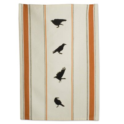 TAG Halloween Crow Embroidered Dishtowel