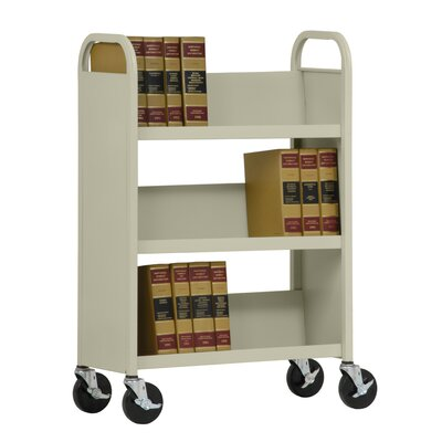Sandusky Cabinets 31&quot; W Single Sided Sloped-Shelf Mobile Book Truck