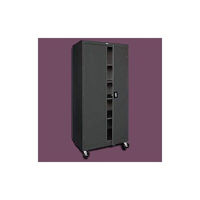 "Sandusky Cabinets Transport Four Shelf Extra Large Mobile Storage - 78"" x 46"" x 24"""