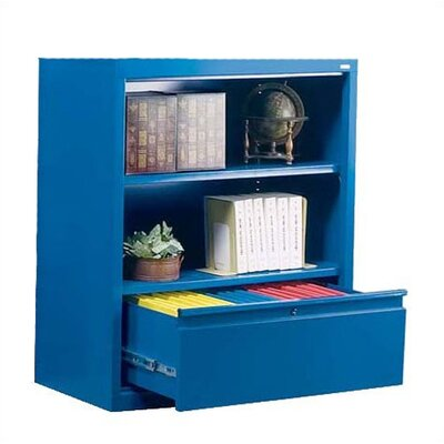 Sandusky Cabinets 42&quot; H Two Shelf Bookcase with File Drawer