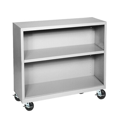 Sandusky Cabinets 36&quot; H Two Shelf Mobile Bookcase