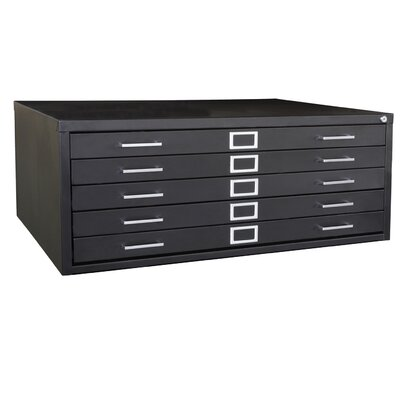 Sandusky Cabinets 5 Drawer Steel Flat File Cabinet
