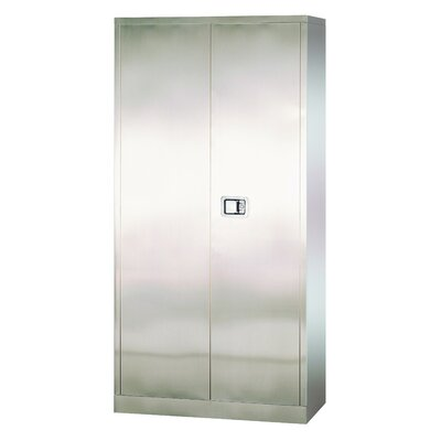 Sandusky Cabinets Stainless Steel Cabinet with Paddle Lock, 36x24x78