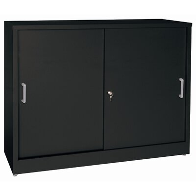 "Sandusky Cabinets 29"" Storage Cabinets with Sliding Door"