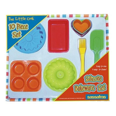 Sassafras Kid's Ten-Piece Silicone Bakeware Kit