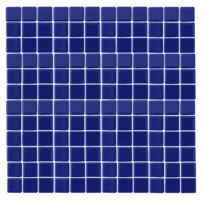 "Epoch Architectural Surfaces Monoz 12"" x 12"" Recycled Glass Mosaic in Blue"