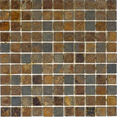 "Epoch Architectural Surfaces 1"" x 1"" Tumbled Slate Mosaic in Sunsets"
