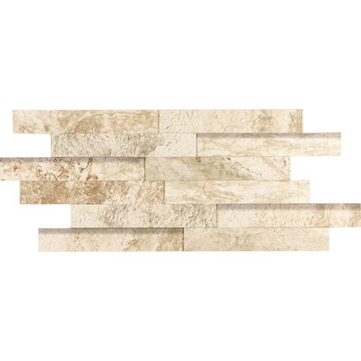 "Epoch Architectural Surfaces 2"" x 12"" Porcelain Listello in Beige Travertine"