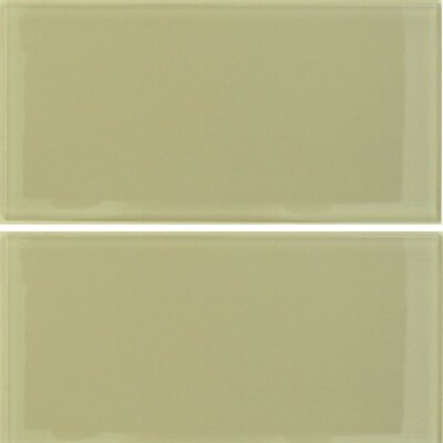 "Epoch Architectural Surfaces Desertz Sahara 12"" x 6"" Glass Subway Tile in Beige Multi"