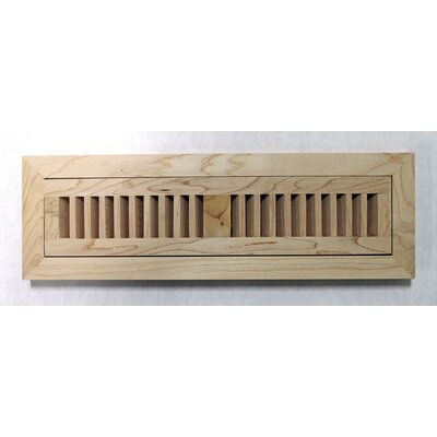 "Moldings Online 2"" x 10"" x 3/4"" Flush Mount Unfinished Maple Wood Vent"
