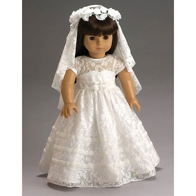American Girl Dolls Special Day Dress, Wreath and Veil with First Communion or Wedding Outfit ...