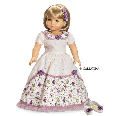 Carpatina American Girl Dolls Victorian Romance Ball Dress, Hair Accessories and Shoes