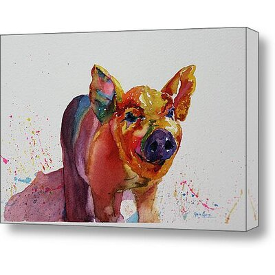 Cousins Series Prescott the Pig 16 x 20 Wrap Canvas