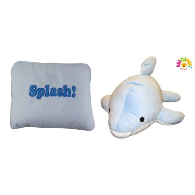 Micro World Dolphin Splash Pillow