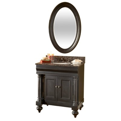 "Kaco International Guild Hall 30"" Distressed Vanity with Granite Top"