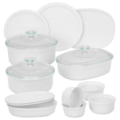 French White 15 Piece Bakeware Set