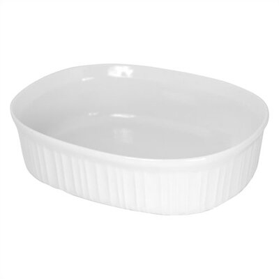 Corningware French White 2.5 Qt. Oval Dish