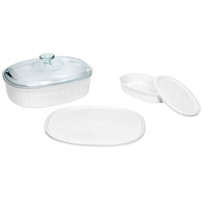 French White 5 Piece Dish Set