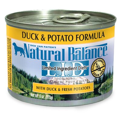 Natural Balance Limited Ingredient Diets, Duck and Potato Formula Canned Dog Food