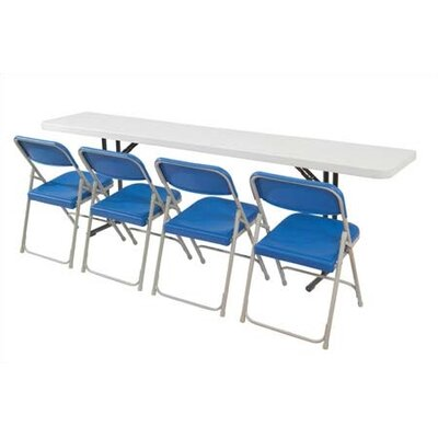 National Public Seating 5' Rectangular Narrow Folding Table