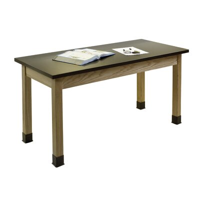 National Public Seating Chem Res Top and Dual Book Compartment Science Lab Table