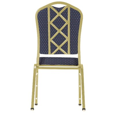 National Public Seating Series 9300 Fabric Silhouette Banquet Stacker with Box Designer Back