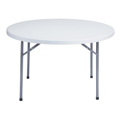 National Public Seating 48&quot; Round Blow Molded Folding Table