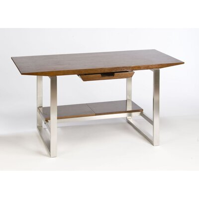 Directions East Breeze Computer Desk with Stainless Steel Legs