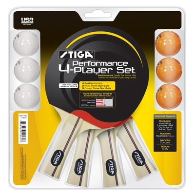 Stiga Performance 4 Player Racket Set