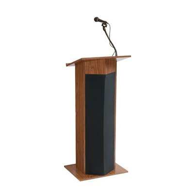 Oklahoma Sound Corporation Presentation Lectern, 22&quot;x17&quot;x45&quot;