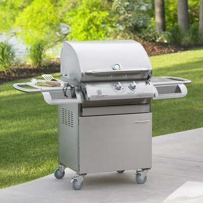 "The Outdoor GreatRoom Company Legacy Cook Number 24"" Gas Grill Head with Deluxe Stainless Steel Cabinet"