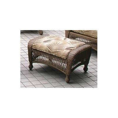 The Outdoor GreatRoom Company All-Weather Wicker Ottoman with Cushion