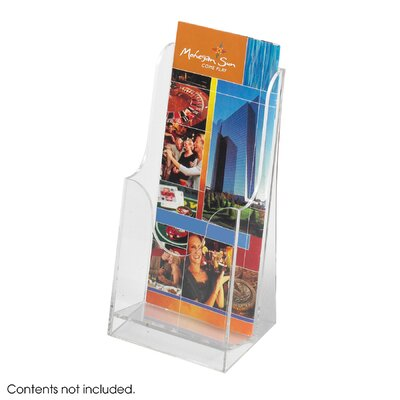 Safco Products Company Acrylic Single Pocket Pamphlet Display (Qty 6)
