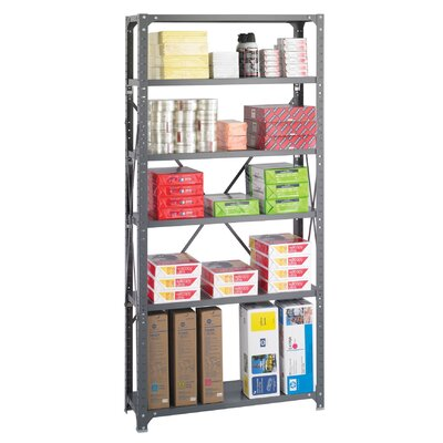 Safco Products Company Commercial Steel Shelving Unit, 6 Shelves