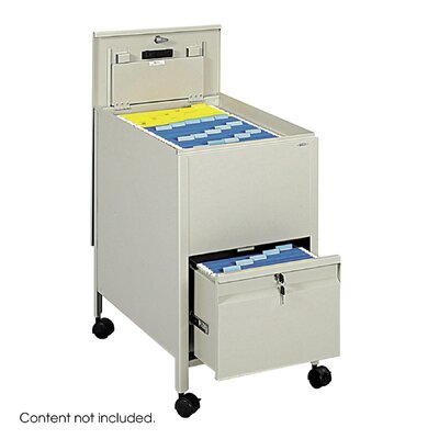 Safco Products Company Extra-Deep Locking Letter-Size Tub File with File Drawer