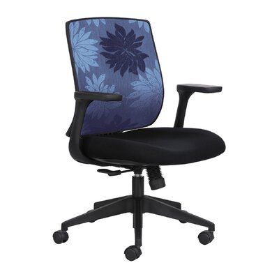 Safco Products Company Mid Back Chair with Fixed Arms
