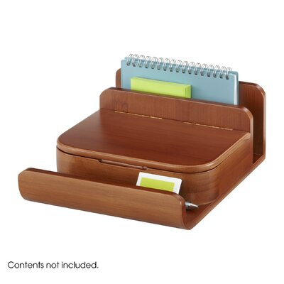 Safco Products Company Bamboo Small Organizer (Set of 4)