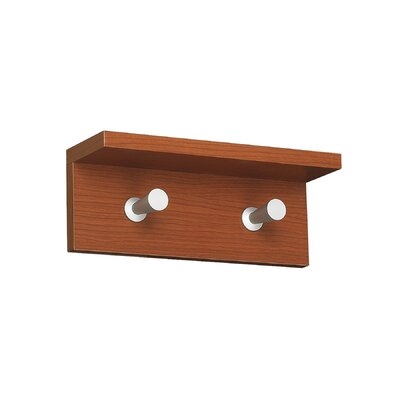 Safco Products Company Contempo 2 Hook Wood Wall Rack