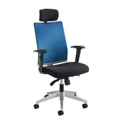 Safco Products Company TMesh Managerial Chair with T-pad Arms and Headrest