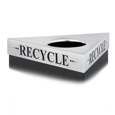 "Safco Products Company Trifecta Waste Receptacle Lid, Laser Cut ""Cans"" Inscription"