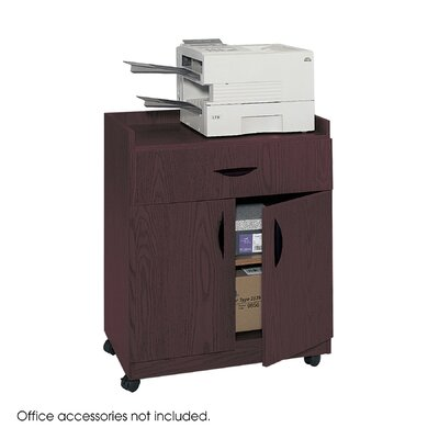 "Safco Products Company Mobile Laminate Machine Stand with Pullout Drawer, 30"" High"