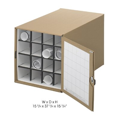 Safco Products Company Stackable Roll File Storage Box, 16-3/4 X 38-3/4 X 16-3/4