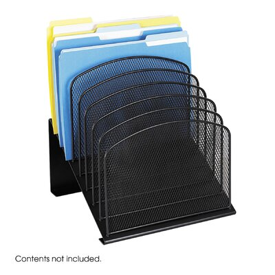 "Safco Products Company Mesh Desk Organizer, Eight Sections, 11.25"" Wide"