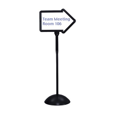 Safco Products Company Dry Erase Magnetic Steel Double-Sided Arrow Sign