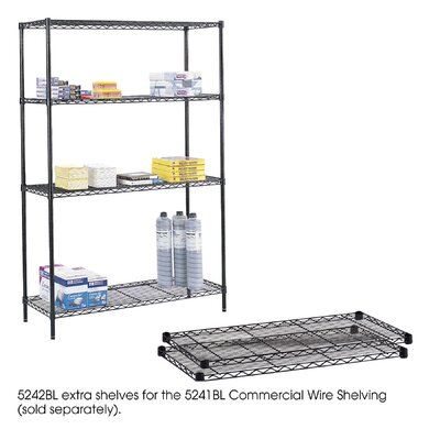 "Safco Products Company Commercial Wire Shelving 48""W Extra Shelves"
