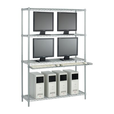 Safco Products Company 48&quot; Wide Wire LAN Management System with Accessories