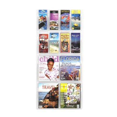 Safco Products Company Safco Magazine Rack with 8 Pamphlet and 4 Magazine Pockets