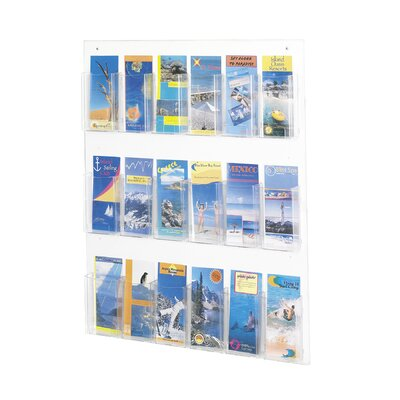 Safco Products Company Safco Pamphlet Rack with 18 Pockets