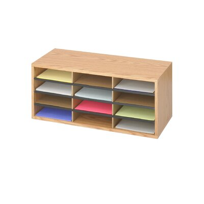 Safco Products Company Small Wood/Corrugated Literature Organizer