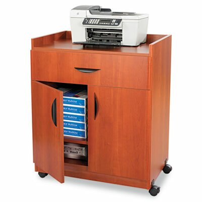 Safco Products Company Mobile Laminate Machine Stand with Pullout Drawer